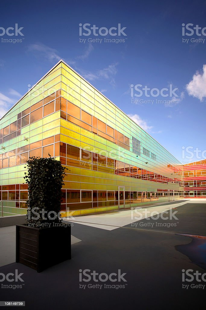 Colorful futuristic building royalty-free stock photo
