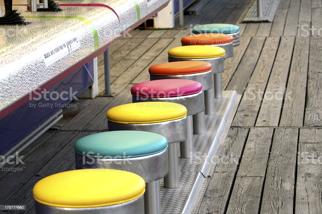 Colorful Game Stools stock photo
