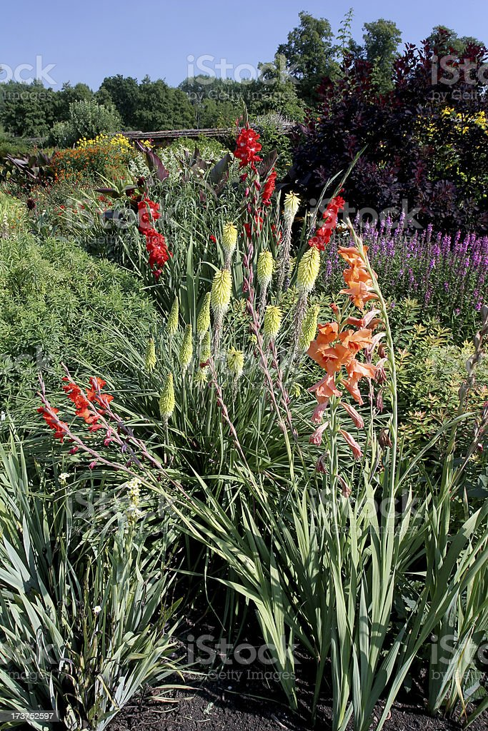 Colorful Garden at Coughton Court stock photo