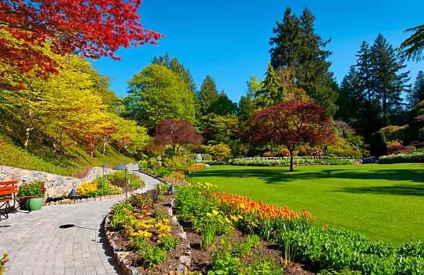 Jardin coloré au printemps, Butchart - Photo