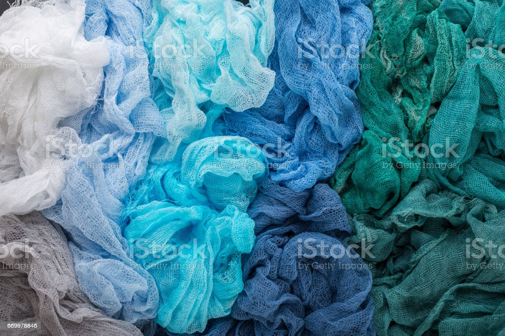 Colorful gauze fabric background stock photo