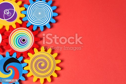 colored gears Colorful design
