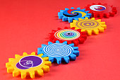 colored gears Colorful design