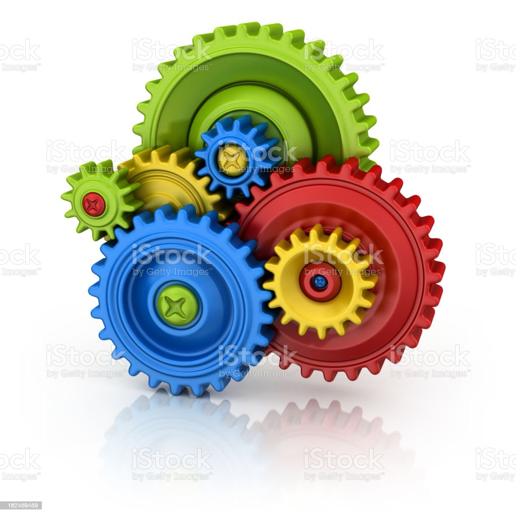 colorful gears royalty-free stock photo