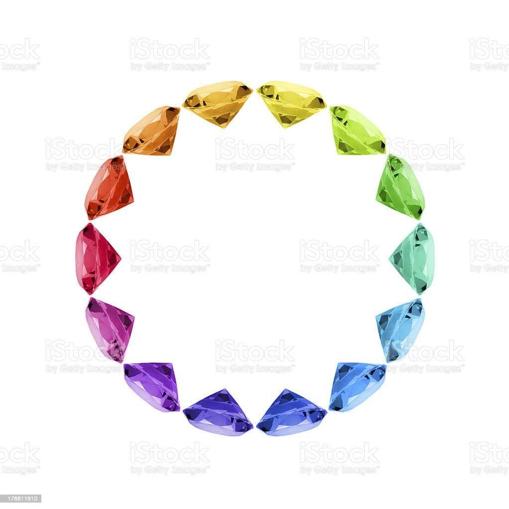 Colorful Gem Wheel royalty-free stock photo