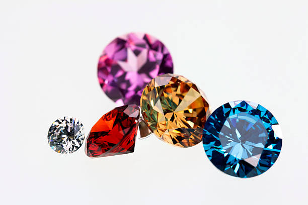 Colorful gems for gift stock photo