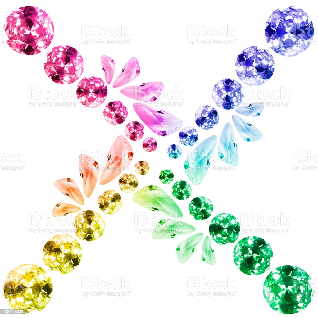 Colorful gems isolated royalty-free stock photo