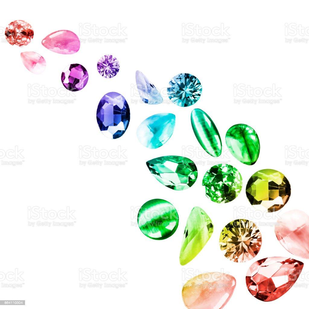 Colorful gemstones isolated royalty-free stock photo