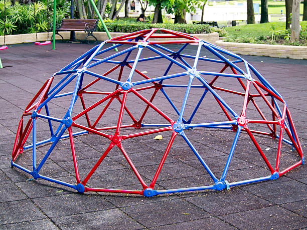 Colorful geodesic dome stock photo