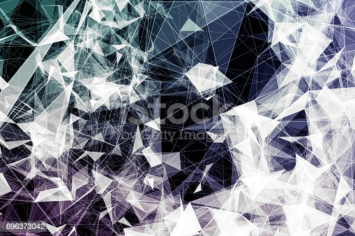 istock Colorful geometric abstract background 696373042
