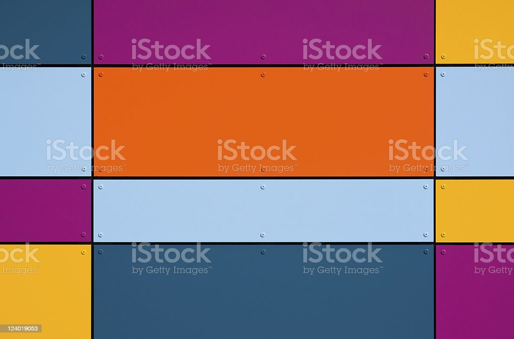 Colorful geometric facade royalty-free stock photo