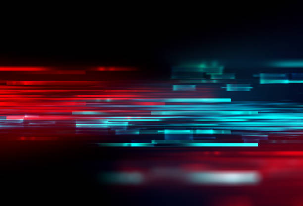 colorful geometric  speed line abstract technology background stock photo