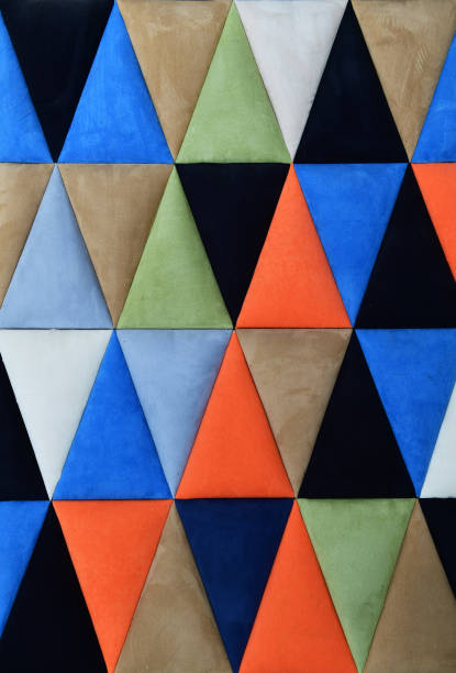 Colorful geometric triangles background stock photo