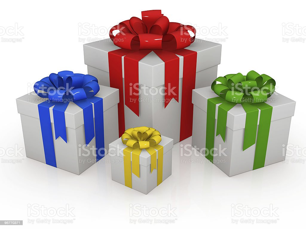 Colorful Gift Box royalty-free stock photo