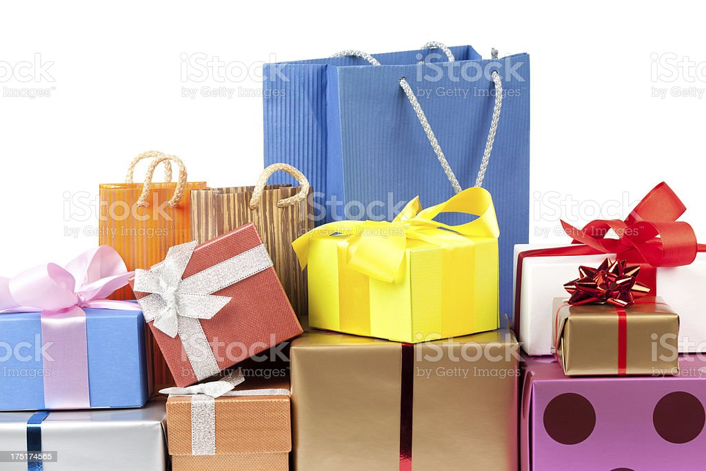 Colorful gift boxes royalty-free stock photo