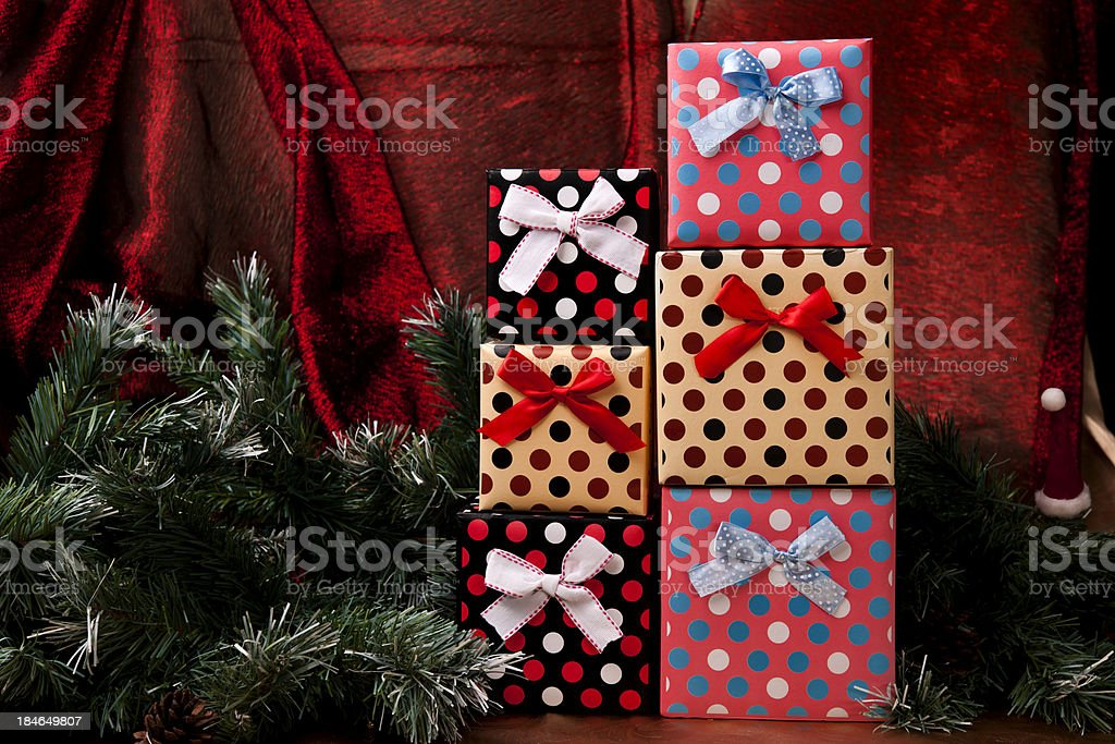 colorful gifts stock photo