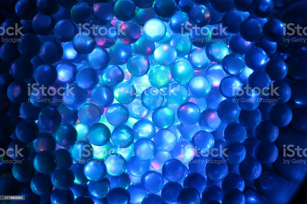 Colorful glass marbles. stock photo