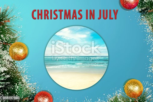 istock Colorful glitter decoration on Christmas in July 938497660