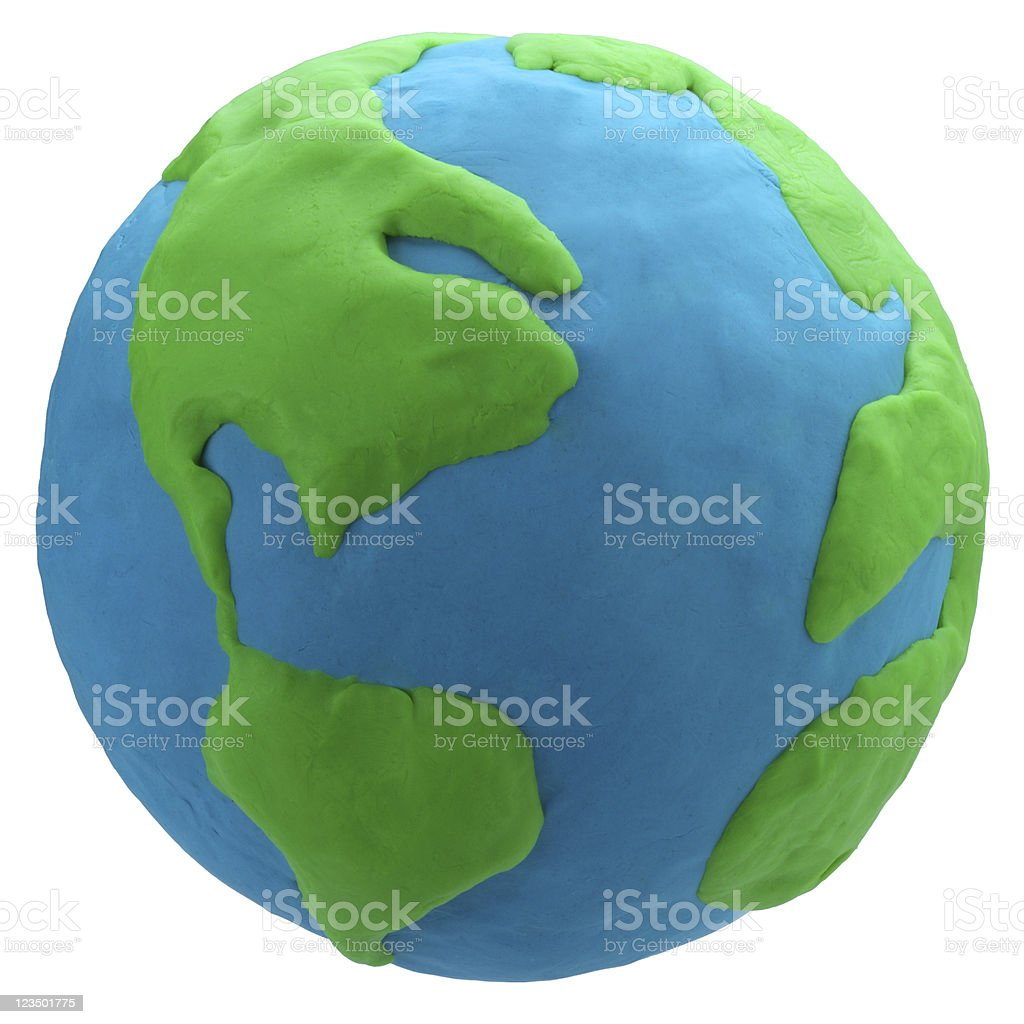 Colorful Globe made out of Play Clay stock photo