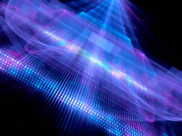 färgglada glödande stordata fractal koncept - vpn bildbanksfoton och bilder