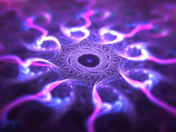 bunt leuchtende nanotechnologie-raster - quant stock-fotos und bilder