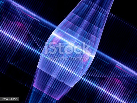 istock Colorful glowing quantum computer abstract background 824626222