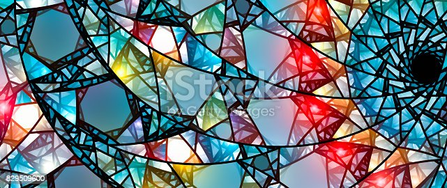 istock Colorful glowing stained glass 829509600