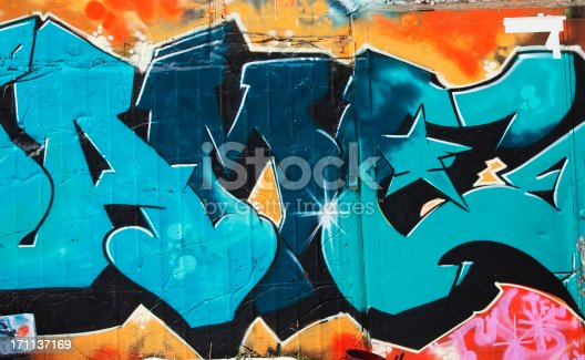 Graffiti.  Oslo, Norway.Lightbox:
