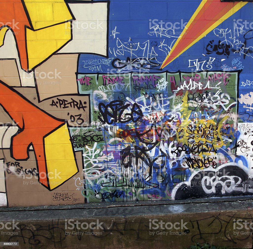 Colorful Graffiti royalty-free stock photo