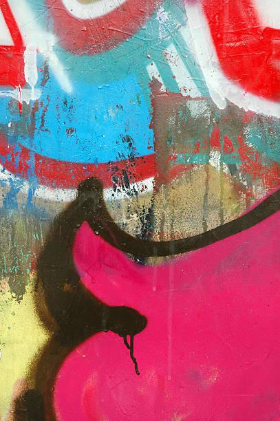 Colorful Grafitti on wall 1 stock photo