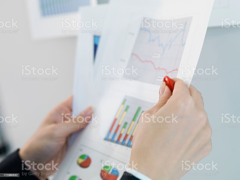 Colorful graph give enough information to businessman. royalty-free stock photo
