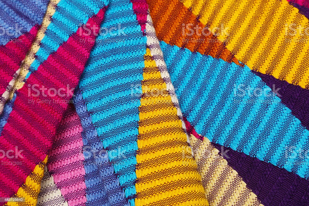 Colorido, fundo de textura de tecido estampado gráfico - foto de acervo