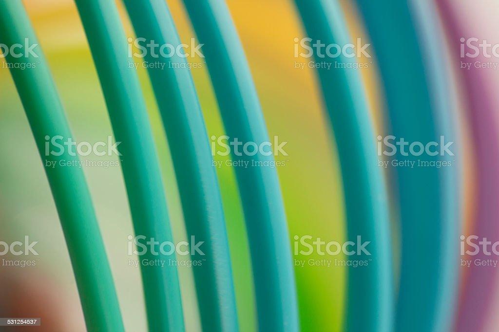 Colorful green color circular art swirl abstract stock photo