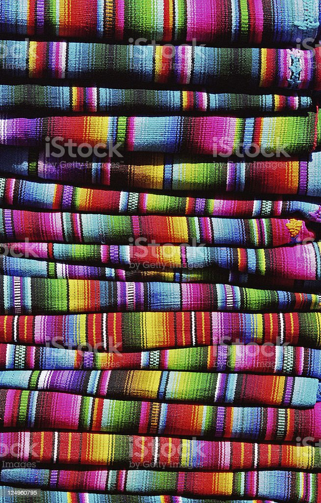 Colorful guatemalan blankets Colorful guatemalan blankets on the market in Chichicastenango, Guatemala. Art Stock Photo