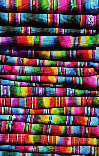 Colorful guatemalan blankets stock photo
