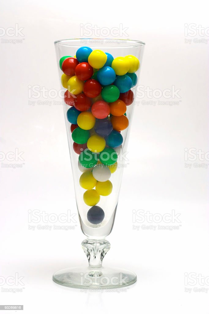 Colorful Gumballs in Glass royalty-free stock photo