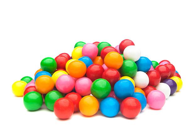 colorful gumballs - sakız şekerleme stok fotoğraflar ve resimler