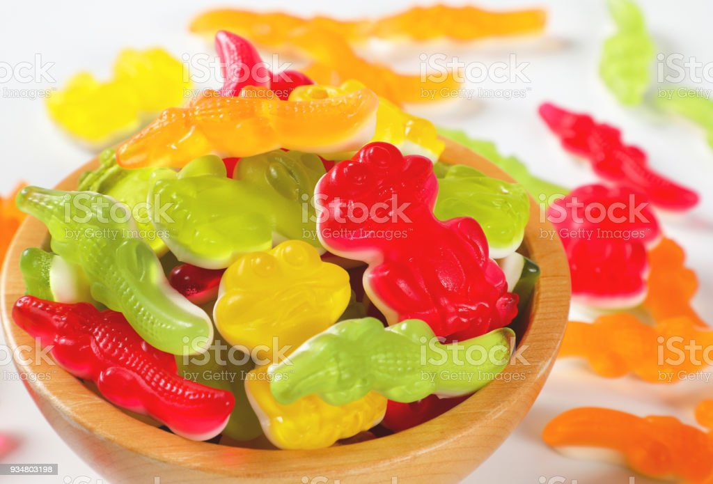 다채로운 고무 같은 사탕 - 로열티 프리 0명 스톡 사진