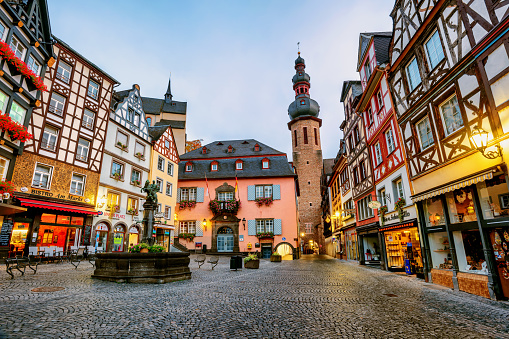 Colorful half-timbered houses in Cochem, Germany