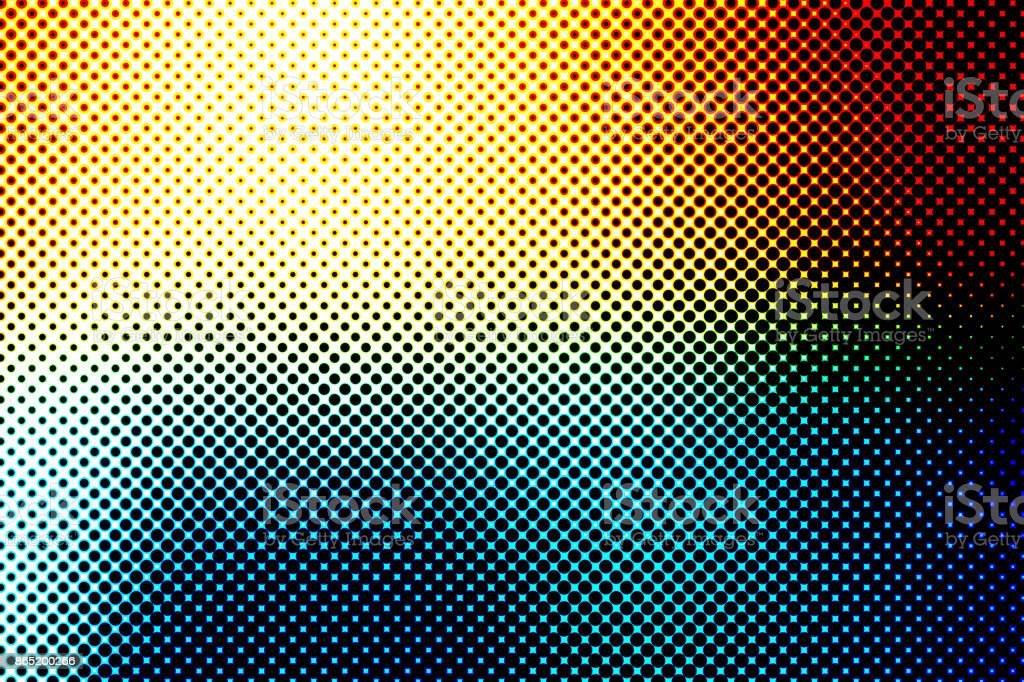 Colorful Halftone Abstarct Background with Rainbow Colors stock photo