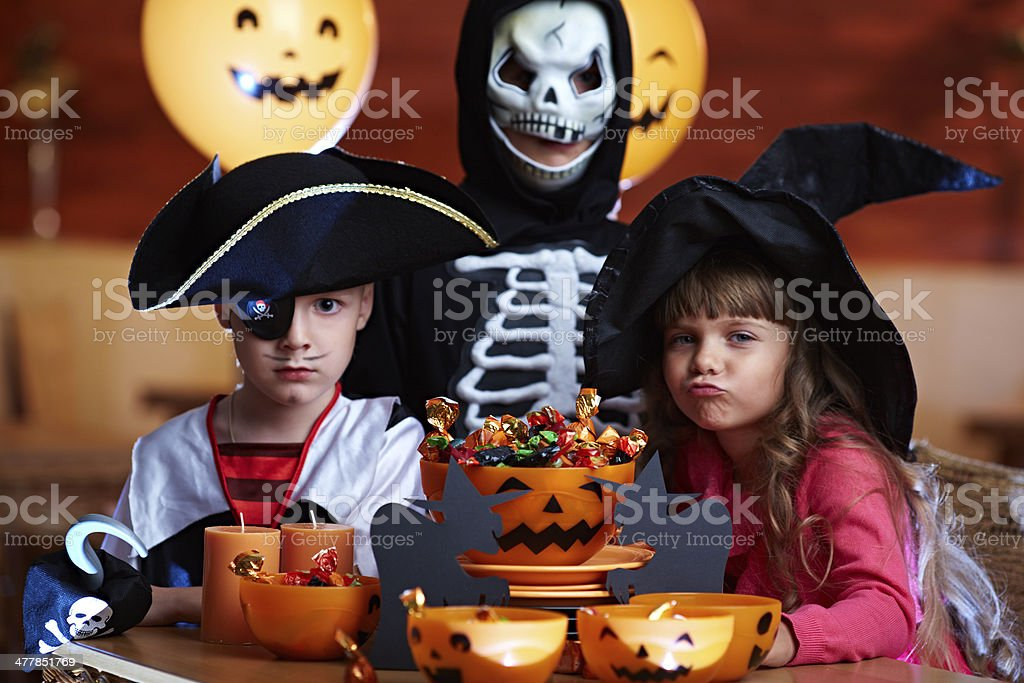 Colorful Halloween performance royalty-free stock photo