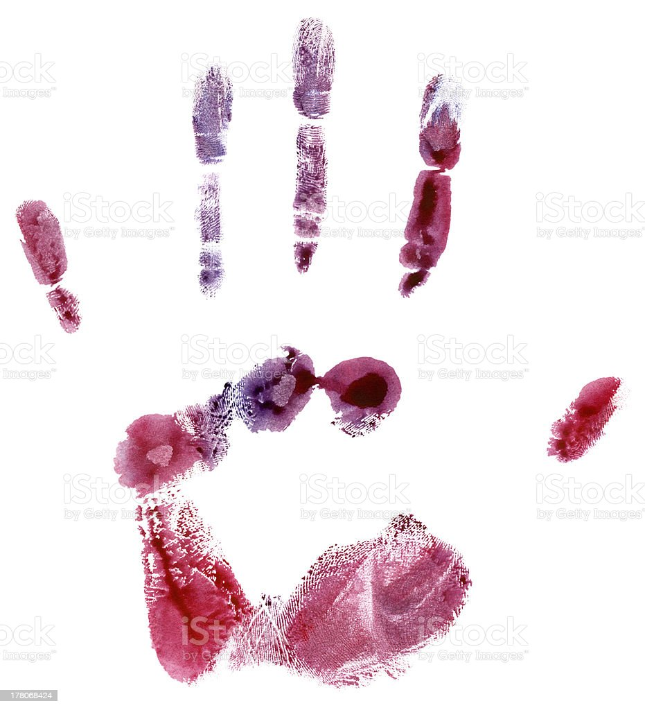 Colorful hand print royalty-free stock photo