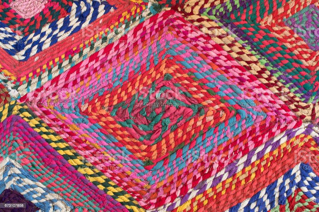 Colorful handmade carpet background stock photo