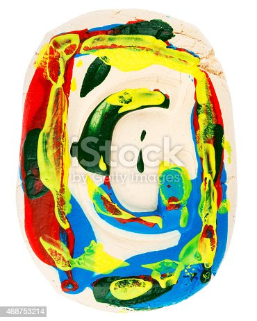184953872istockphoto Colorful handmade of white clay letter G 468753214