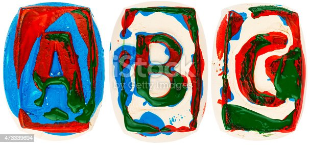 184953872istockphoto Colorful handmade of white clay letters 473339694