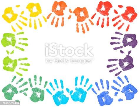 678159134 istock photo Colorful handprints 503728069