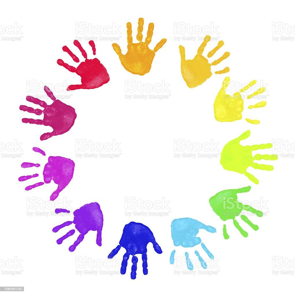 photo de mains color u00e9s imprim u00e9s image libre de droit istock rainbow circle clip art printable Rainbow Turkey Clip Art
