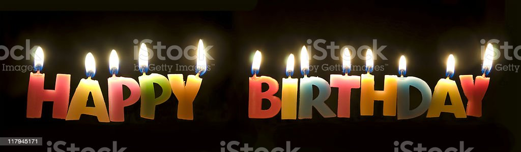 Colorful Happy Birthday Candles royalty-free stock photo