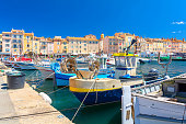 summer time in Saint Tropez in south France