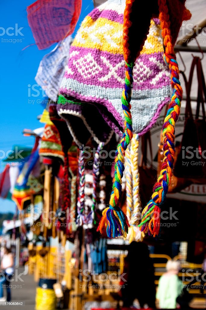 Colorful Hats for Sale royalty-free stock photo